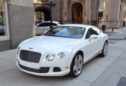 Белый Bentley Continental GT Coupe